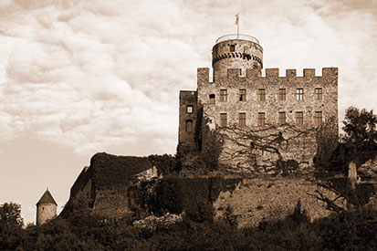 Foto der Burg Pyrmont