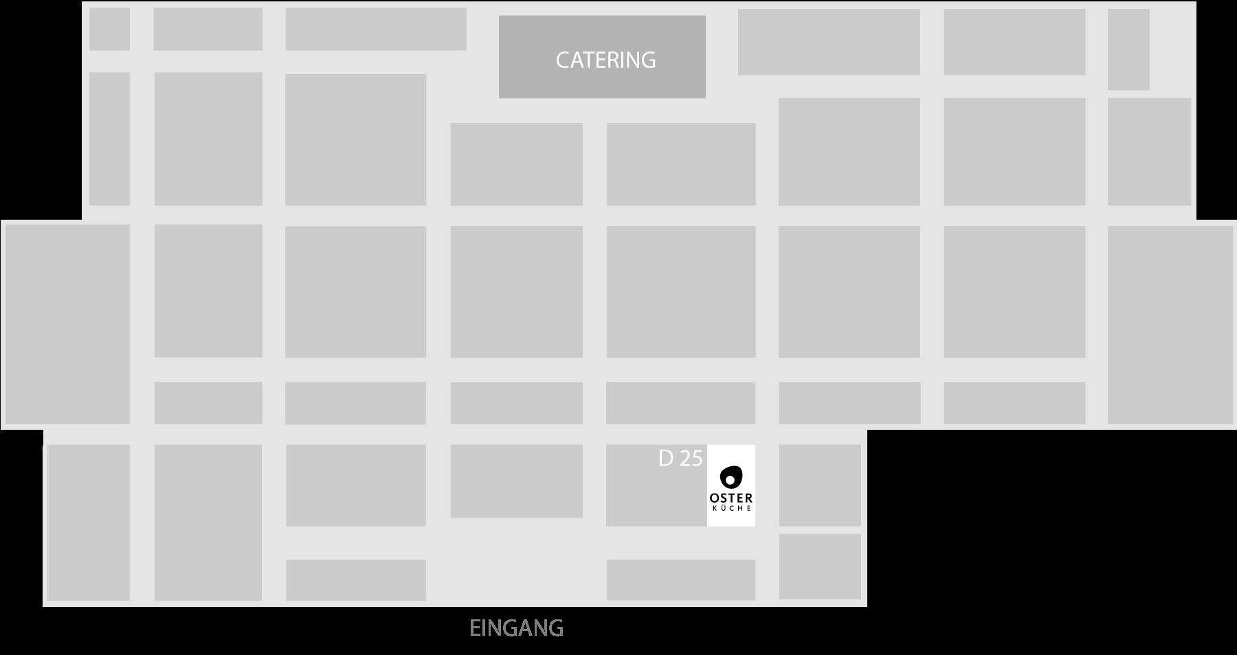 area30 Hallenplan 2021, Stand D 25, Oster Küche